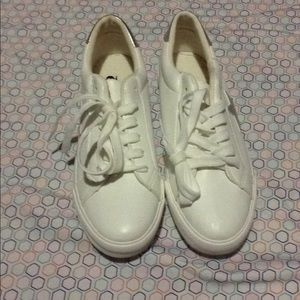 White/Silver Charlotte Russe Star Shoes